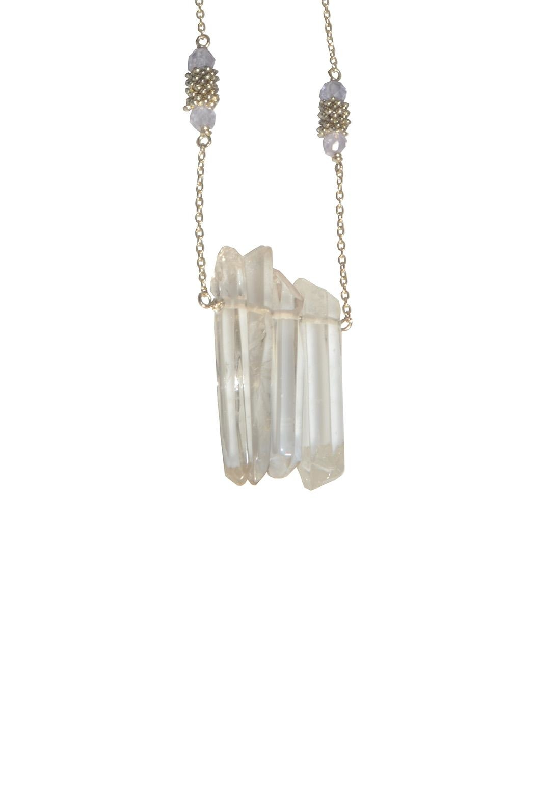 Federika Padula Crystal Quartz Silver Necklaces - Front Cropped Image