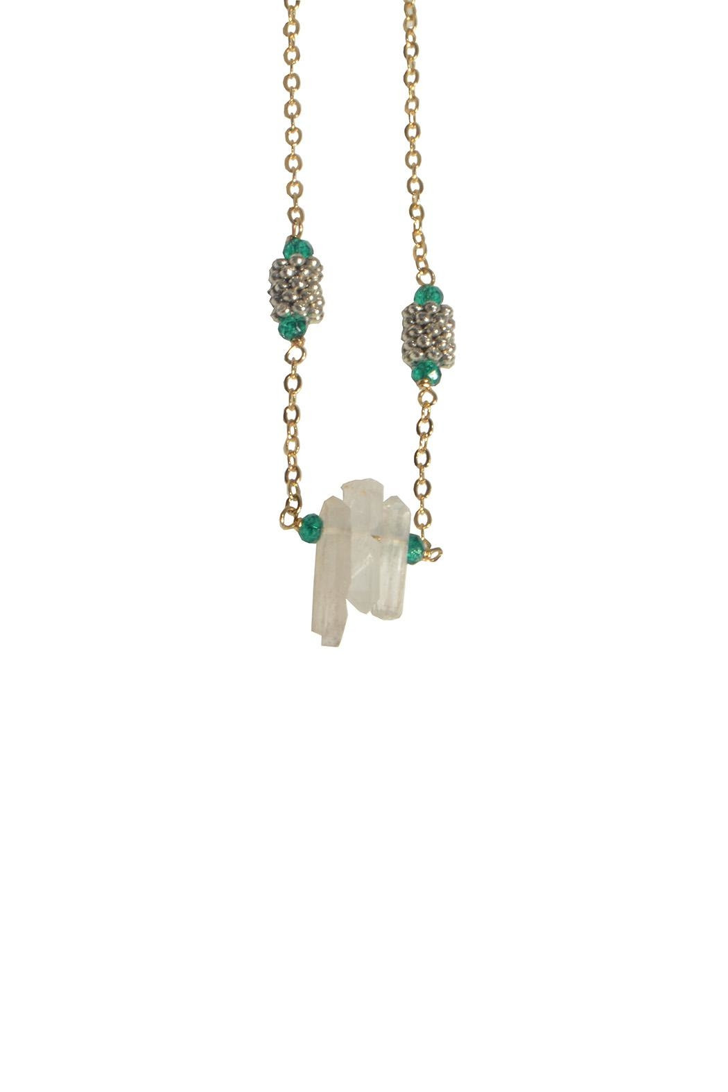 Federika Padula Small Crystal Quartz Necklaces - Front Cropped Image