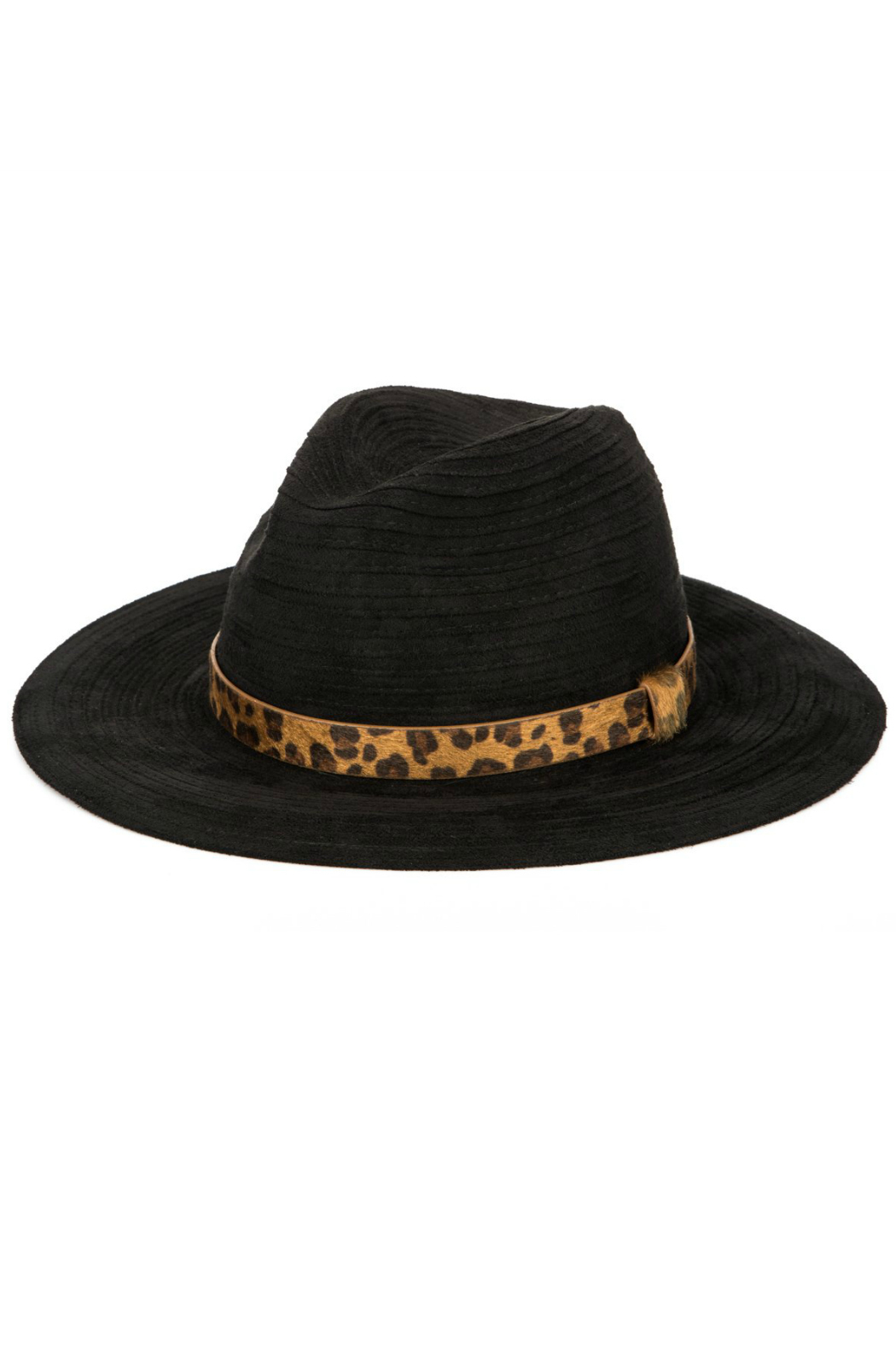 San Diego Hat Company Fedora With Leopard Band - Main Image