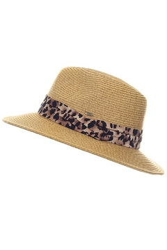 C.C. Fedora with Leopard Print Band - Product List Image