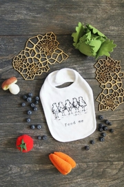 The Coin Laundry Print Shop Feed Me Bib - Front cropped