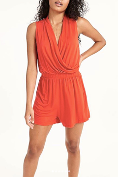 LA Made Feel Good Romper Coral - Alternate List Image