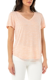 Liverpool  Feel good v neck striped tee - Front cropped