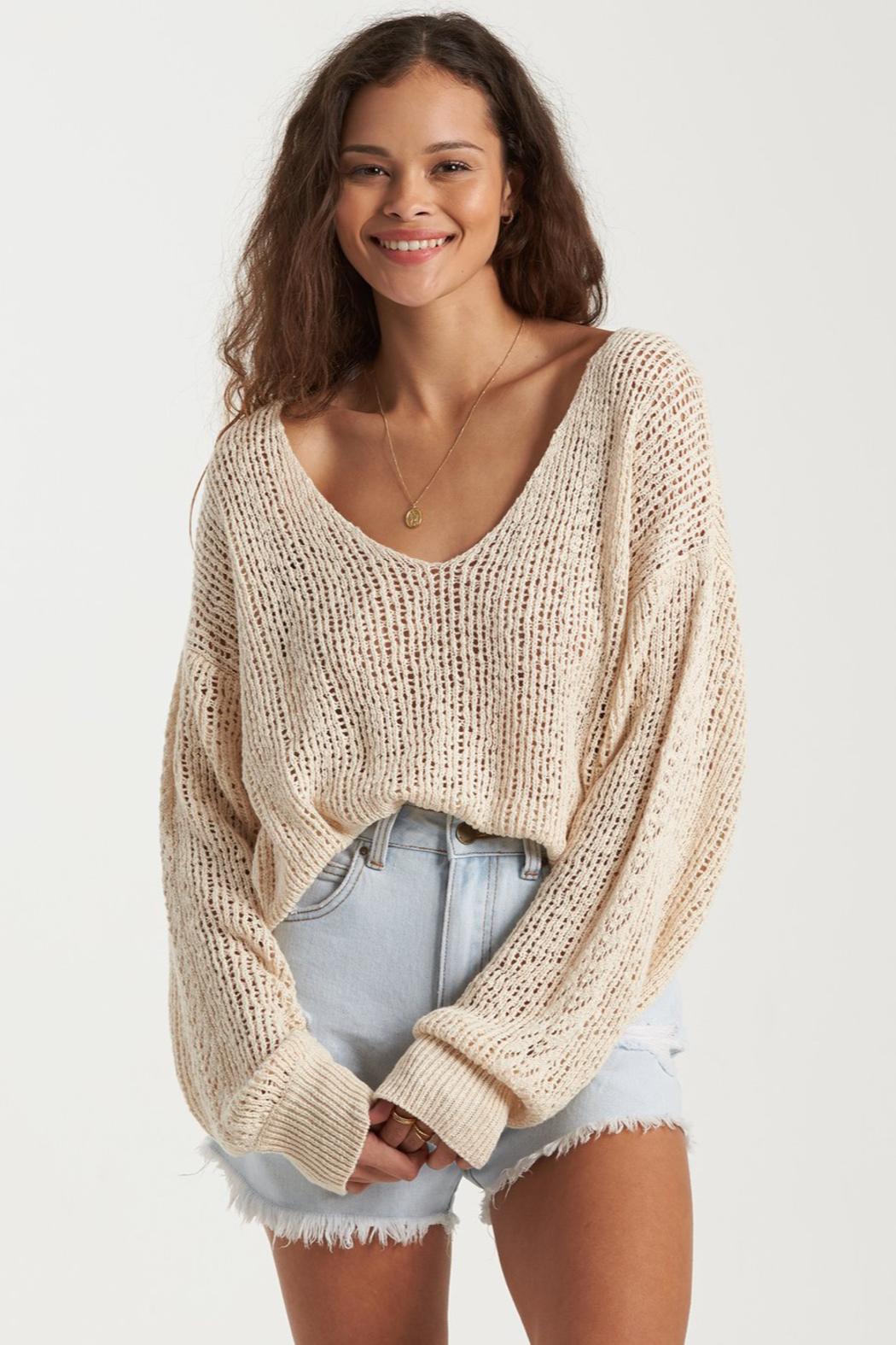 Billabong Feel The Breeze Sweater - Front Cropped Image