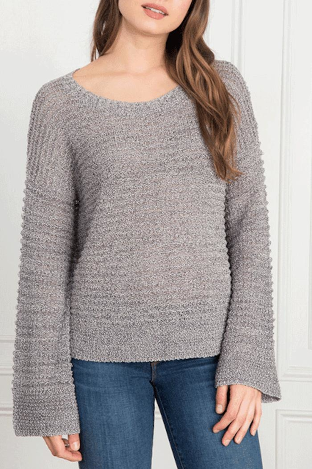 Feel the Piece by Terre Jacobs Hoover Sweater - Front Cropped Image
