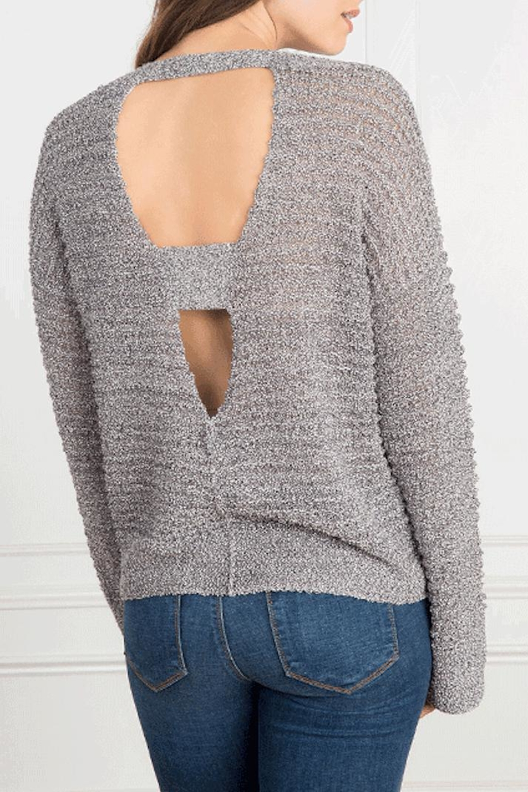Feel the Piece by Terre Jacobs Hoover Sweater - Front Full Image