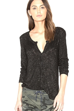 Feel the Piece by Terre Jacobs Teal Blue Henley - Alternate List Image
