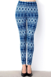 New Mix Feeling Blue Leggings - Product Mini Image