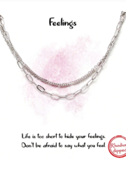 US Jewelry House FEELINGS Triple Chain Short Necklace - Product Mini Image