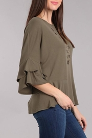 Chris & Carol Felicity Ruffle Top - Front full body