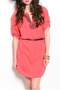 Feline Coral Tunic Dress - Product List Image