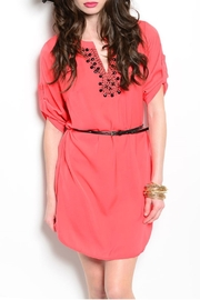 Feline Coral Tunic Dress - Front cropped