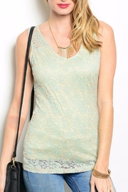 Feline Mint Lace Top - Product Mini Image