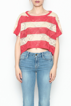 Shoptiques Product: Stripe Crochet Top