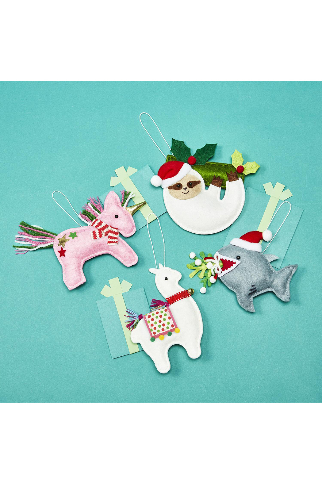 Two's Company Felt Ornaments - Front Cropped Image