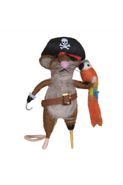 Homart Felt Pirate Mouse Ornament - Front cropped