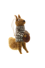 Homart Felt Squirrel With Nut Ornament - Product Mini Image