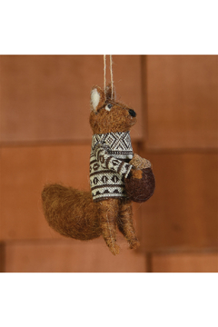 Homart Felt Squirrel With Nut Ornament - Alternate List Image