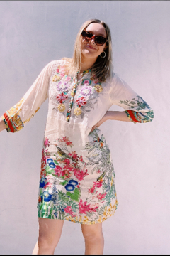 Johnny Was Feminine Floral Dress by - Product List Image