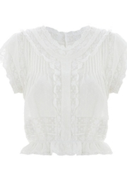 Zimmermann Feminine Lace Cap-Sleeve - Product Mini Image