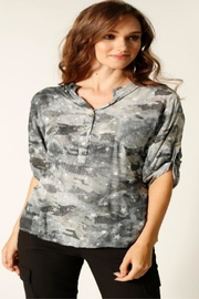 Femme Fatale Camo Star Blouse - Front cropped