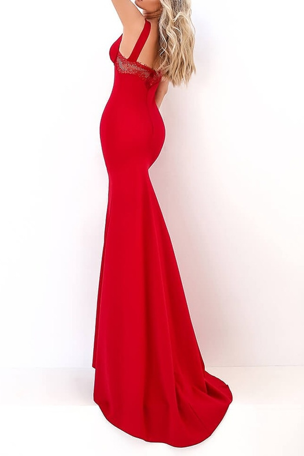 Tarik Ediz Fenty Gown - Side Cropped Image