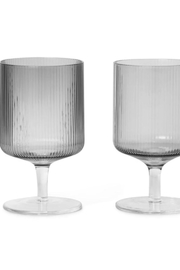 Ferm Living Ripple Wine Glasses (Set Of 2) - Front cropped