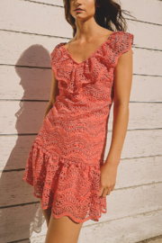Saylor Fern Eyelet Dress - Product Mini Image