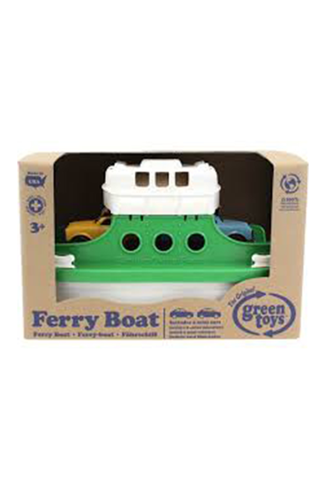 Green Toys Ferry Boat Green - Front Full Image