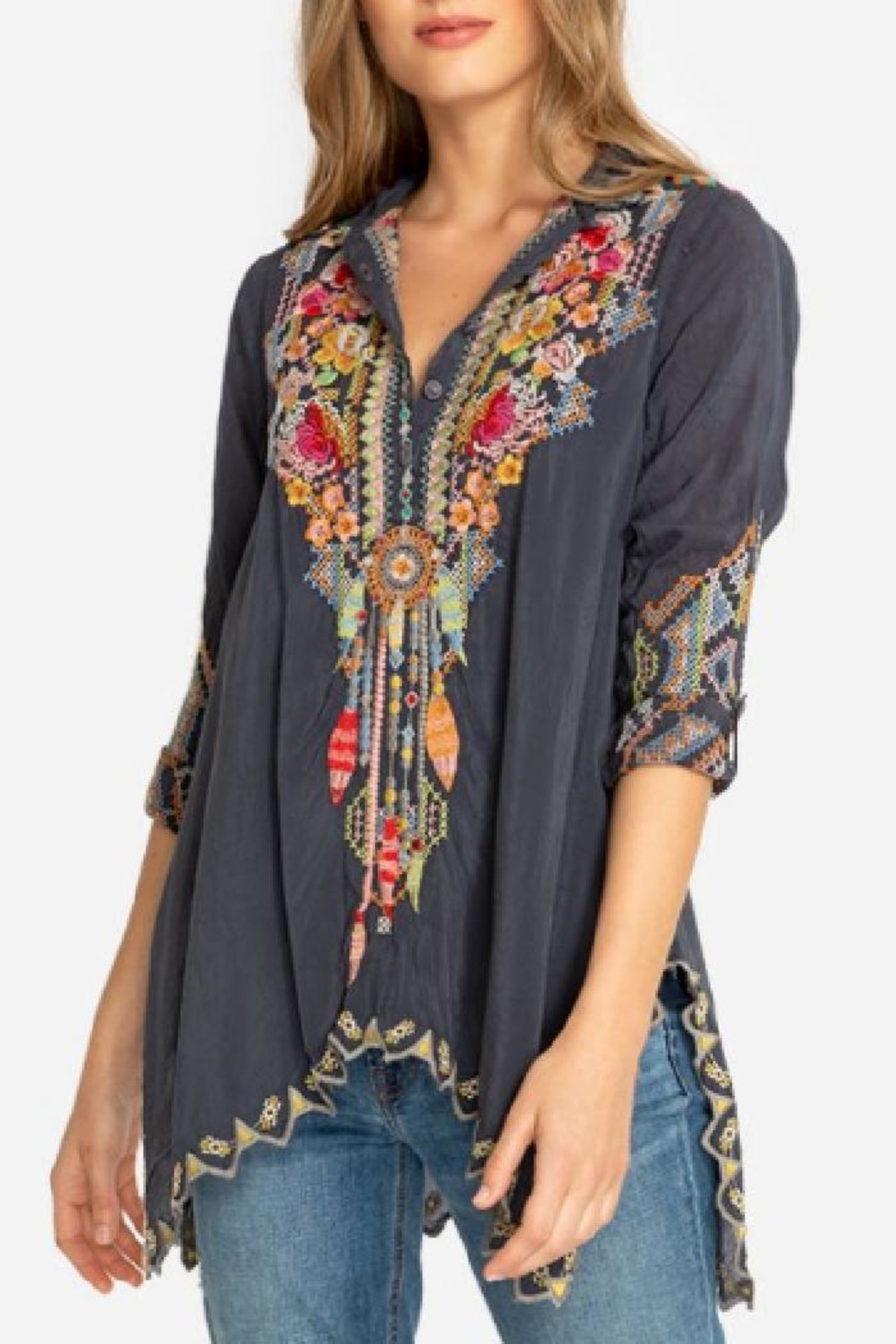 Johnny Was Festival Georgette Tunic - Main Image