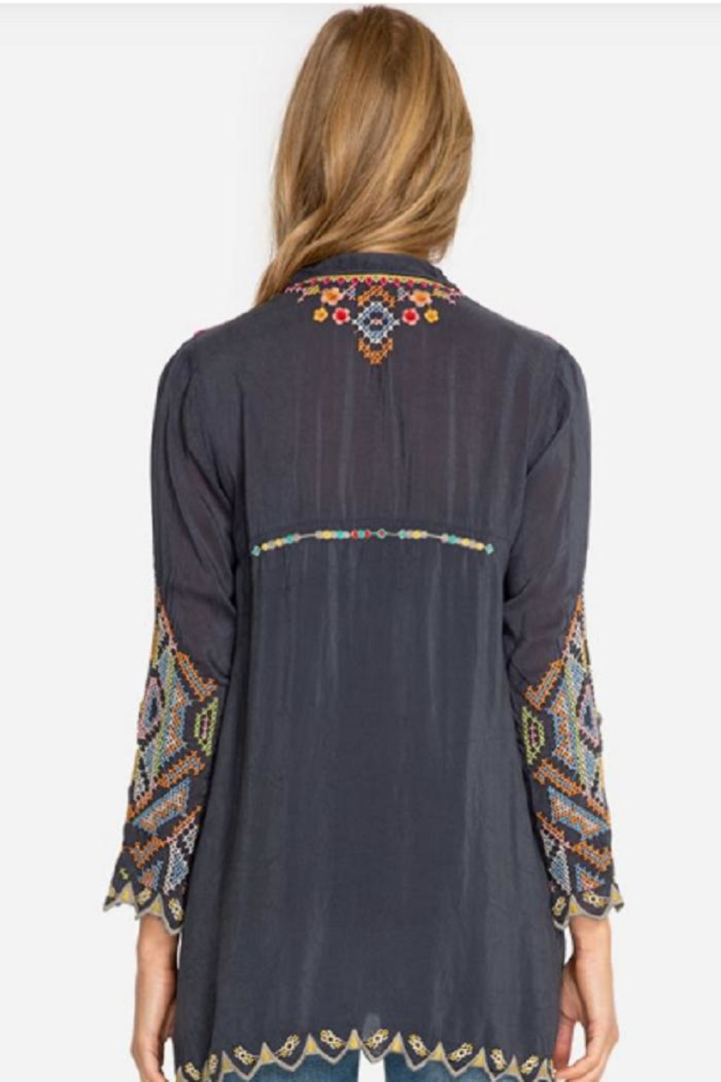 Johnny Was Festival Georgette Tunic - Front Full Image