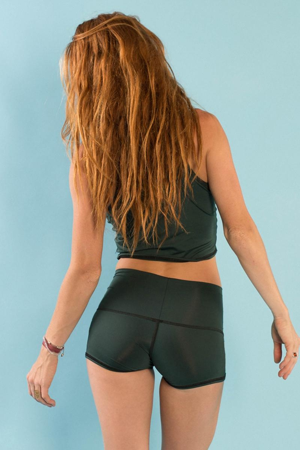 Teeki Festival Yoga Shorts - Side Cropped Image