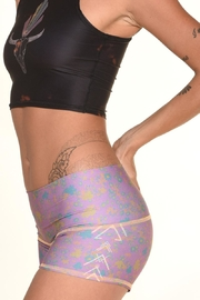 Teeki Festival Yoga Shorts - Front full body