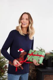 Joules Festive Crew Neck Block Sweater - Product Mini Image