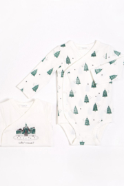 Petit Lem Festive Trees Onesie set of 2 - Product Mini Image