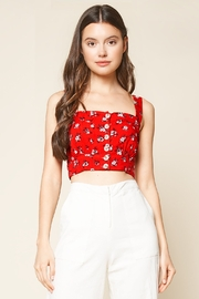 Sugarlips Fever Dream Floral Print Crop Top - Product Mini Image
