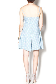 Everly Dotty Chambray Dress - Side cropped