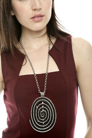Alisha D Large Oval Pendant Necklace - Side cropped