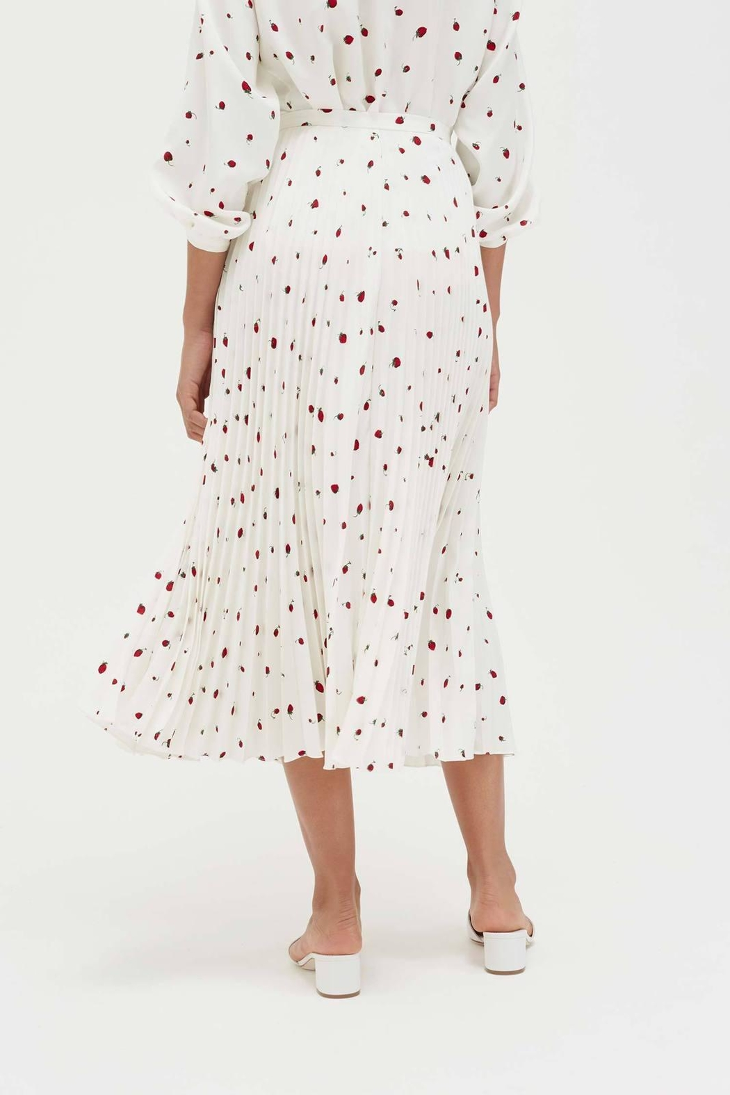 Chinti & Parker Field Pleated Skirt - Front Full Image