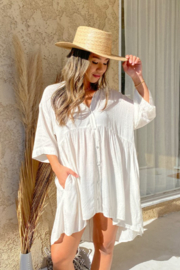 Lovestitch  Fields Babydoll Blouse - Front cropped
