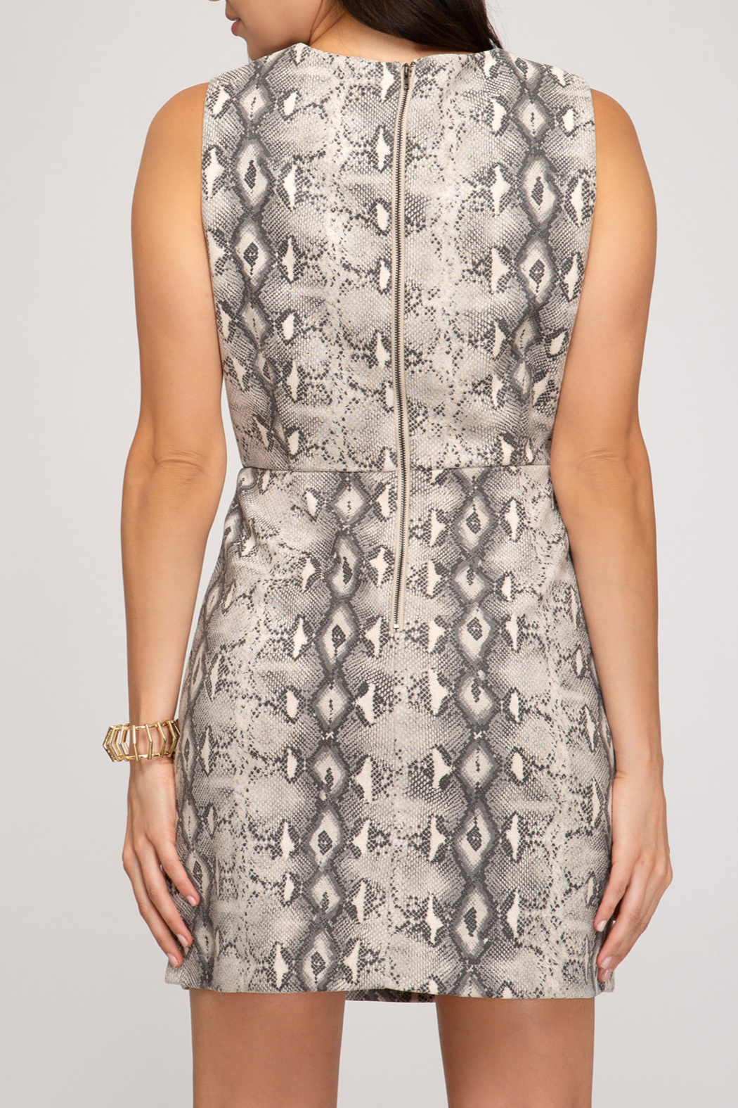 She and Sky Fierce Fashion Dress - Front Full Image