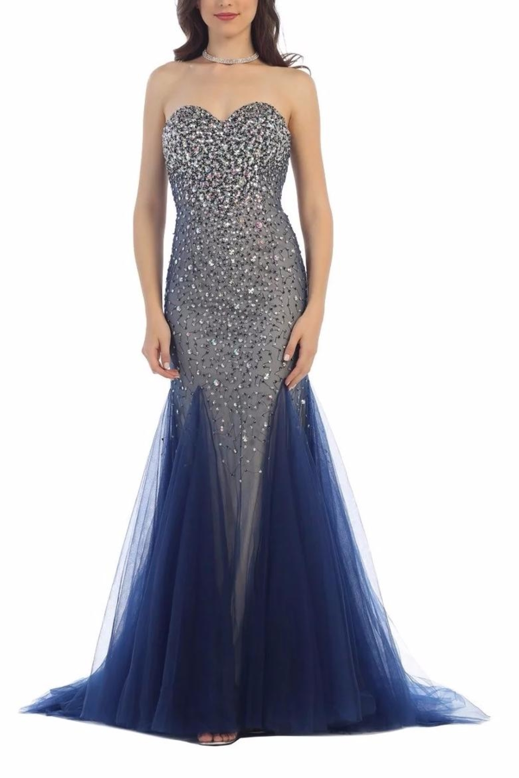 Fiesta Beaded Prom Dress - Front Cropped Image