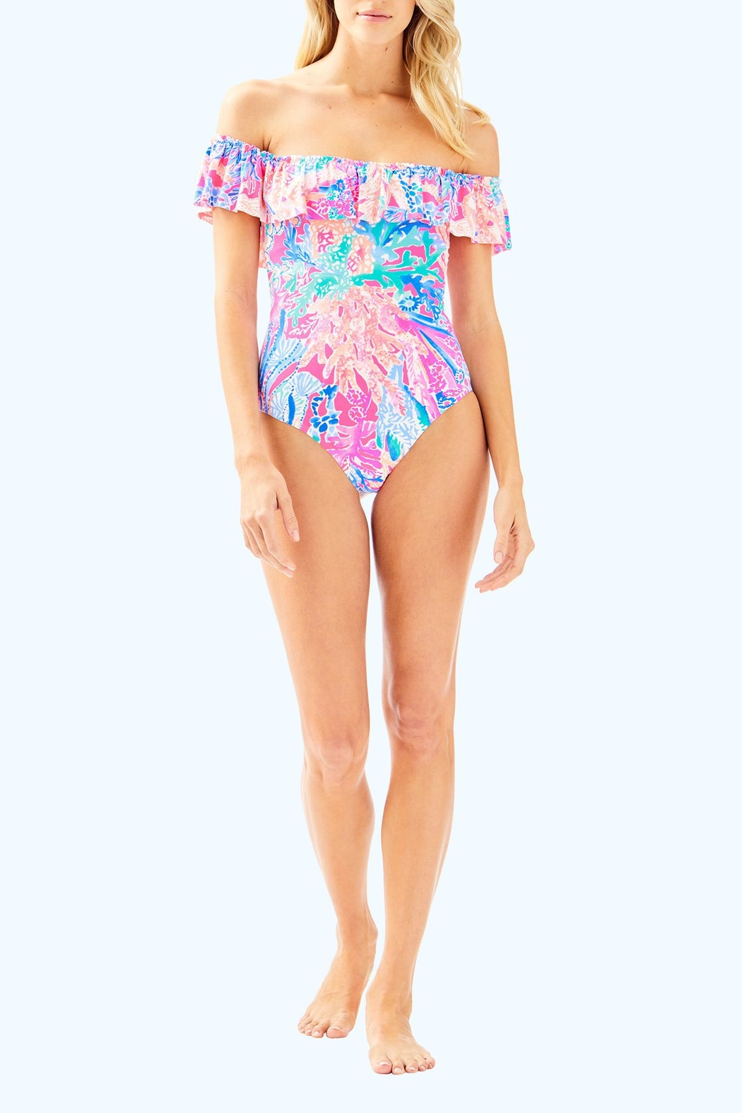 Lilly Pulitzer Fiesta One-Piece Swimsuit - Side Cropped Image