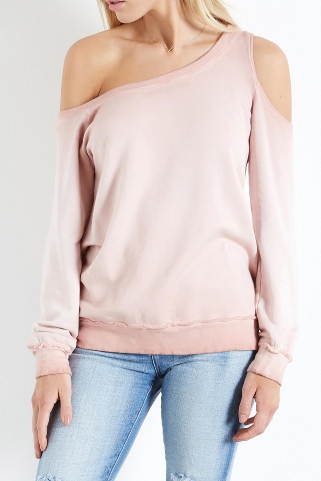 Fifteen-Twenty Asymmetric Shoulder Sweatshirt - Front Full Image