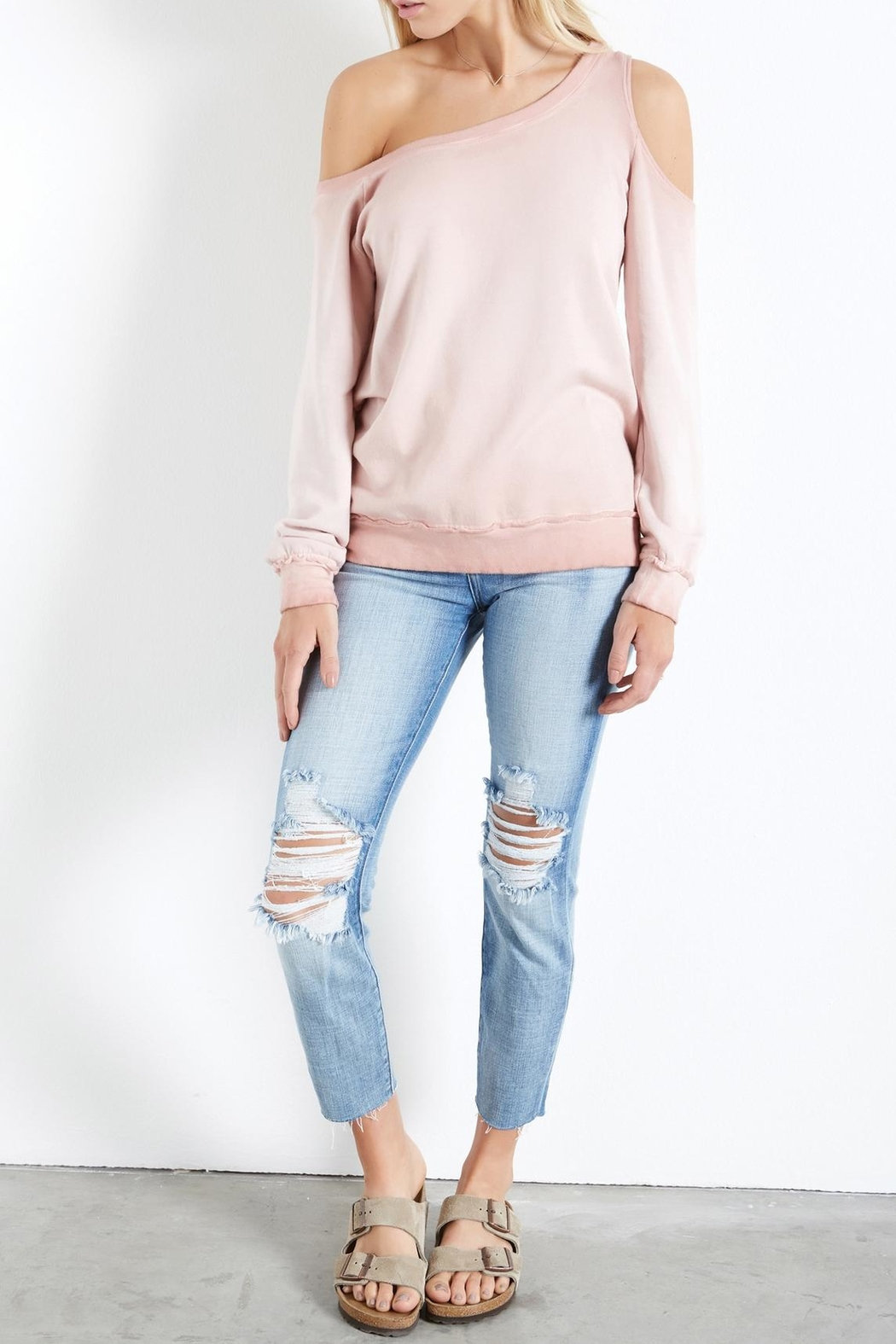 Fifteen-Twenty Asymmetric Shoulder Sweatshirt - Main Image