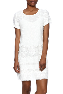 Shoptiques Product: Embroidered Crepe Dress