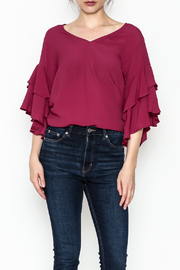 Fifteen Twenty Ruffle V Neck Top - Product Mini Image