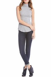 Fifteen-Twenty Sleeveless Turtleneck Top - Front full body