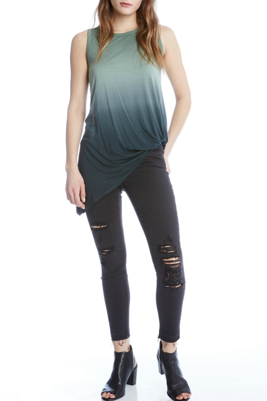 Fifteen Twenty Asymmetric Ombre Tank Top - Front Cropped Image