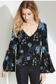 Fifteen Twenty Blue Embroidered Top - Front full body
